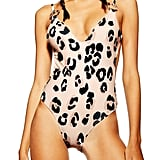Topshop Animal Print One-Piece Swimsuit