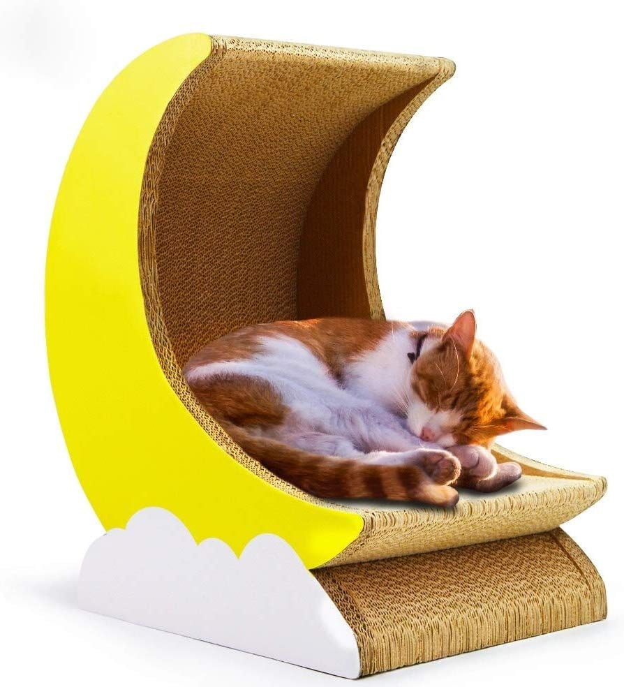 Cosmo's Own Moon Cat Scratcher Bed