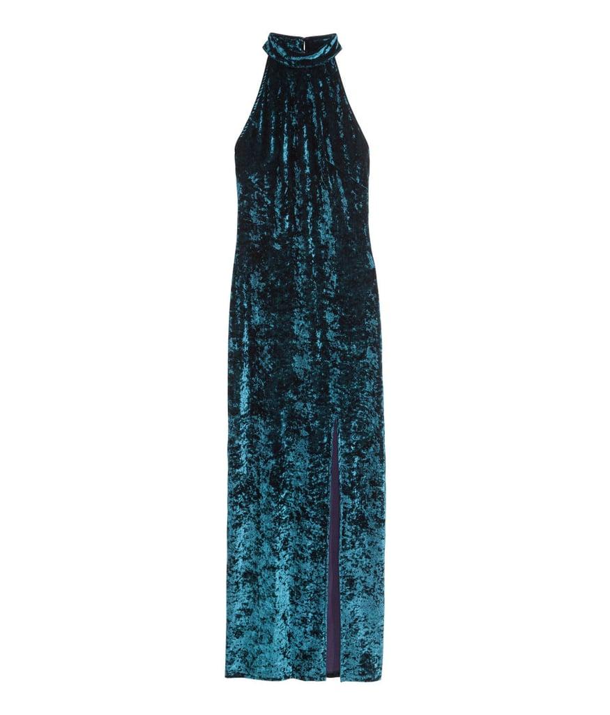 H&M Crushed Velvet Maxi Dress ($50)