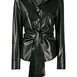 Nanushka Poppy Faux Leather Overshirt