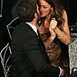 Jennifer Garner kissed Ben Affleck after his SAGs win for Argo.