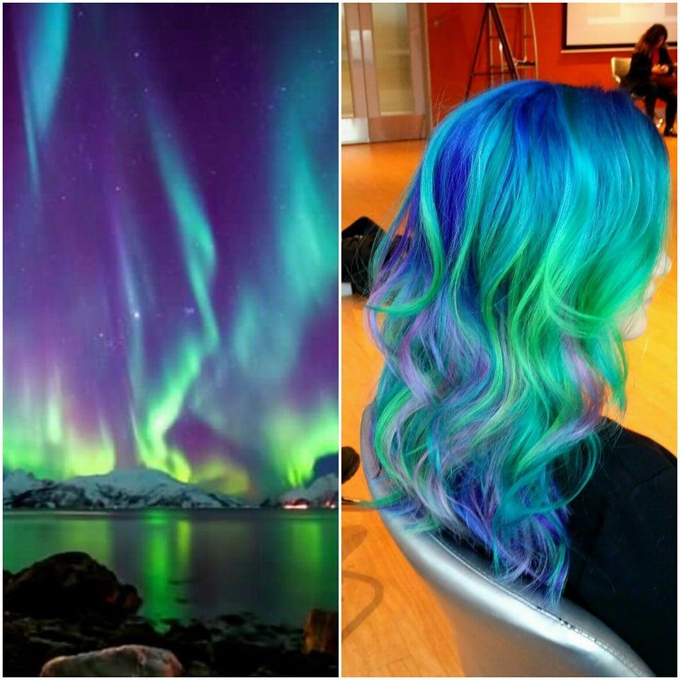 Aurora Borealis Hair Colour Ideas