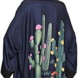Cactus Print Satin Kimono