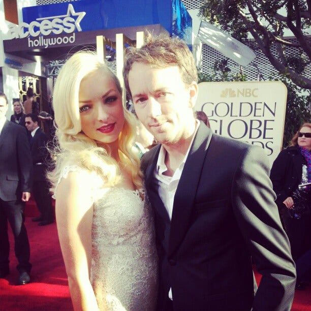 Miss Golden Globe (and Clint Eastwood's offspring) Francesca Eastwood hits the red carpet bright and early. Source: Instagram user goldenglobes