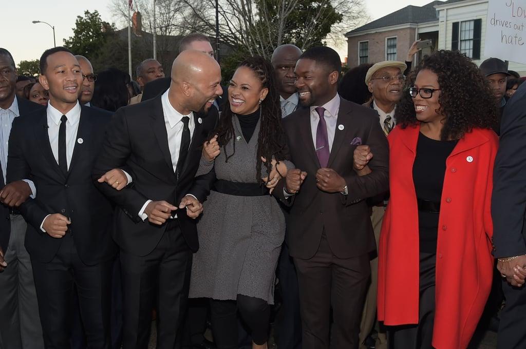 Oprah Winfrey Marching in Selma on MLK Weekend Pictures