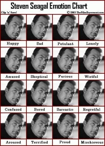 Steven Seagal: Most Expressive Actor Ever?