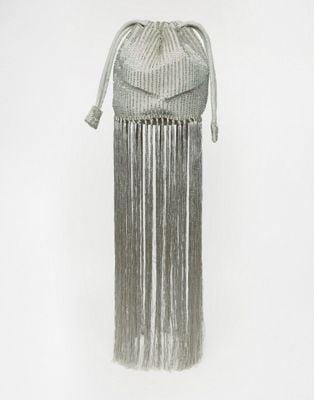Asos Bridal Embellished Duffle Bag With Tassel