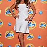 Sofia Vergara showed off her famous curves in a little white bandage dress at the Ace Campaign cocktail party in Mexico City.