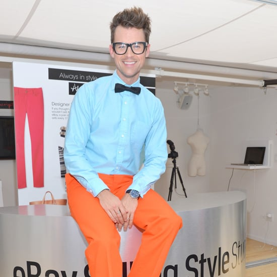 Jessica Alba Wearing Colored Jeans (Brad Goreski Interview)