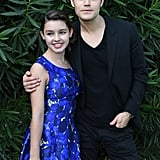 Fatima Ptacek and Paul Wesley posed at a photocall for Before I Disappear on Wednesday.