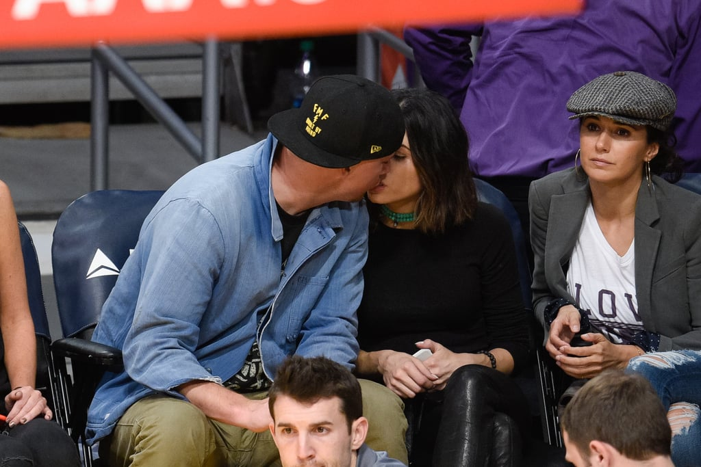 Channing and Jenna shared a smooch at the Los Angeles Lakers game in December 2015.