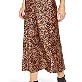 Something Navy Midi Slip Skirt