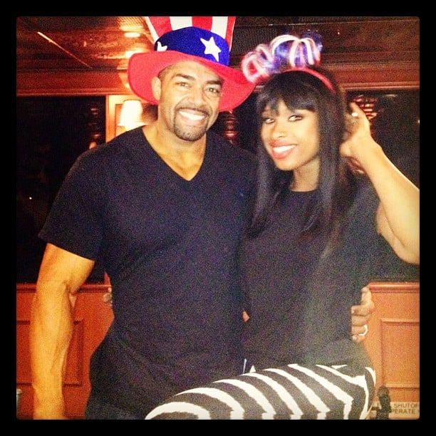 Jennifer Hudson and David Otunga posed together on the Fourth of July. Source: Instagram user jhuddiva1
