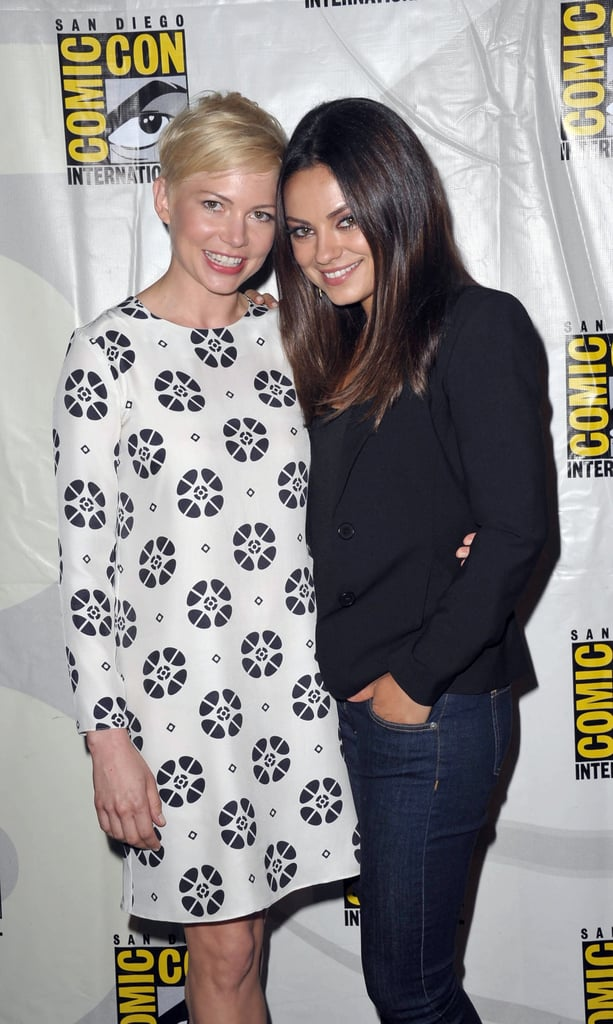 Michelle Williams and Mila Kunis sweetly posed together while promoting Oz The Great and Powerful during the 2012 convention.