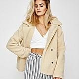 Don't Ask Amanda Audrey Faux Fur Coat Cream ($129.95)