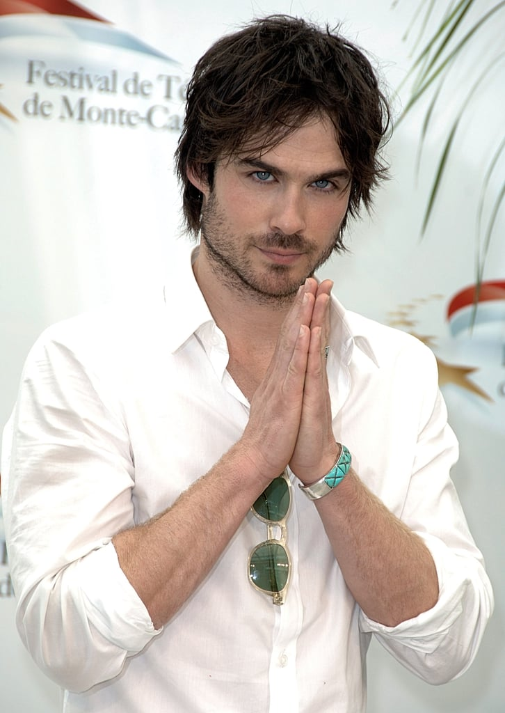 Ian Somerhalder posed for photos for international press at a Vampire Diaries photocall in Monte Carlo in June 2010.