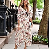 a6e228eaa440 Sarah Jessica Parker's Maje Dress · Shop It: Maje Rayne Handkerchief Midi  Dress ...