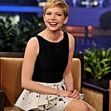 Michelle Williams had a laugh with the audience at The Tonight Show With Jay Leno.