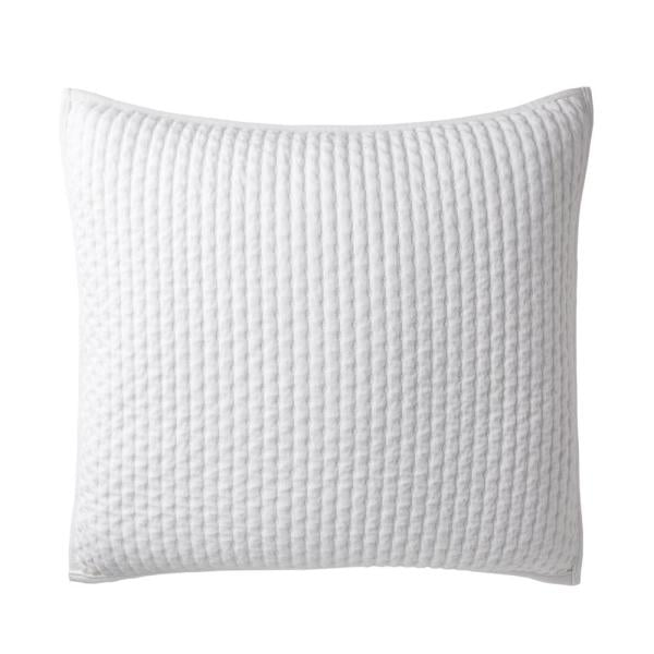 The Company Store Legends Paloma Cotton Textured Euro Sham in White