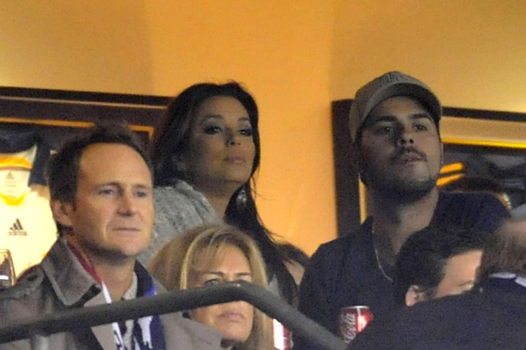 Eva Longoria and Eduardo Cruz watched the soccer game in LA.