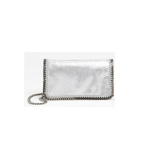 I adore silver jewellery, but it's such a hard colour to incorporate into your wardrobe. I figure if I start out with this Stella McCartney clutch that I've wanted for ages, I'll soon be able to move to pretty silver separates. — Genevieve, associate editor Bag, approx $899, Stella McCartney at Nordstrom