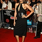Zoe Saldana posed in front of fans at the fifth annual Tribeca Film Festival Mission: Impossible III premiere in May 2006.