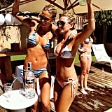 Bar Refaeli got wild with a friend as they celebrated a bachelorette party. Source: Instagram user barrefaeli