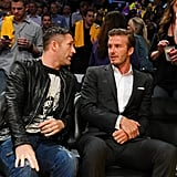 David Beckham chatted with Robbie Keane.