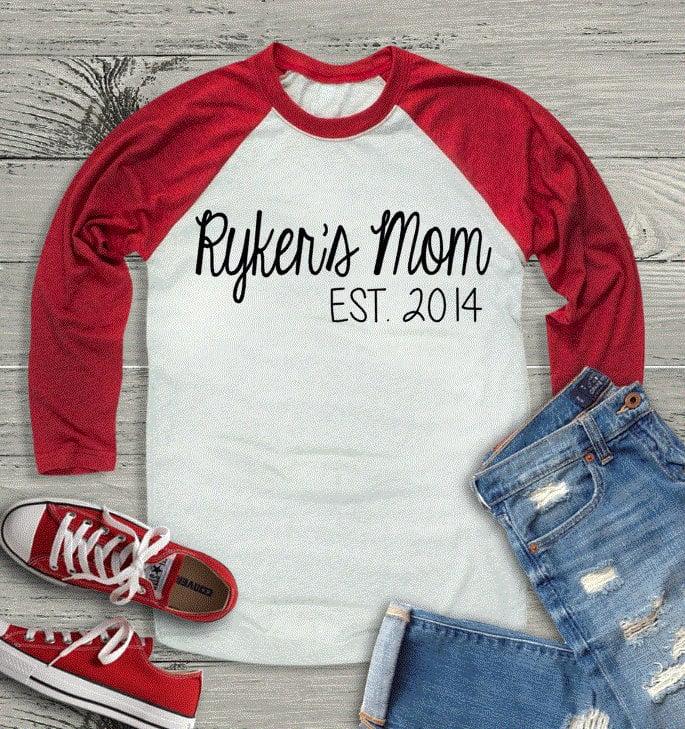 Custom Mom Shirt Personalized Mother S Day Shirts Popsugar