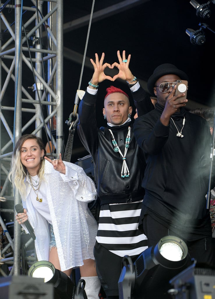 Miley Cyrus and The Black Eyed Peas