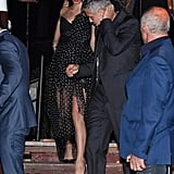 Amal Clooney in Polka-Dot Dress at Venice Film Festival 2017