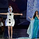 Taylor Swift as Olaf and Idina Menzel as Elsa