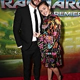 Miley Cyrus and Liam Hemsworth at Thor: Ragnarok Premiere