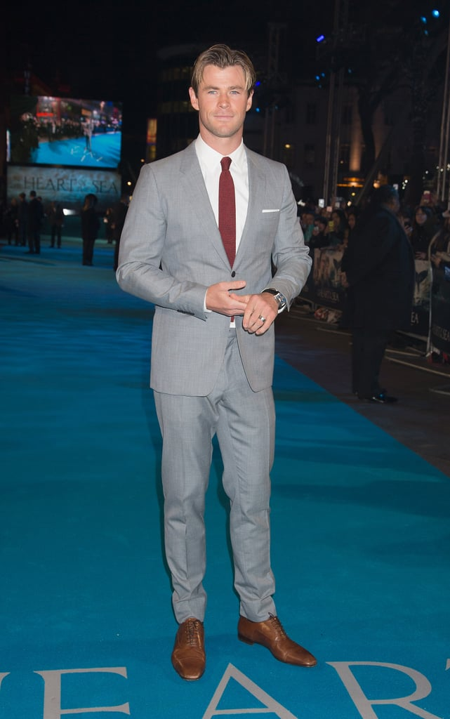 "Chris Hemsworth made a dapper appearance at the London premiere of his new film, In the Heart of the Sea, on Wednesday. The actor, who graces the pages of Vanity Fair's December issue, showed off his sexy smoulder and was all about making dreams come true, signing autographs and posing for photos with fans on the red carpet. Just last month, Chris made waves when he stepped out in his native Australia for a charity screening of his movie, in which he plays a sailor whose ship is overtaken by a ""demon"" of a whale. In addition to public outings, Chris has also been killing the Instagram game with his supercute family photos and hilarious posts. Keep reading to see more from Chris's big night, then prepare to melt over his hottest moments."