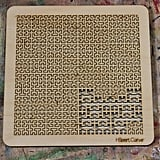 Hilbert Curve Wooden Fractal Tray Puzzle