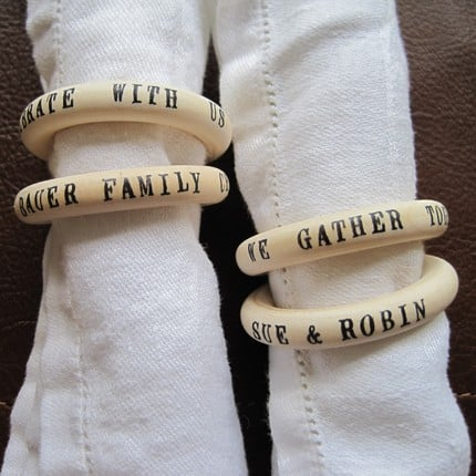 Etsy Find: Table Talk Napkin Rings