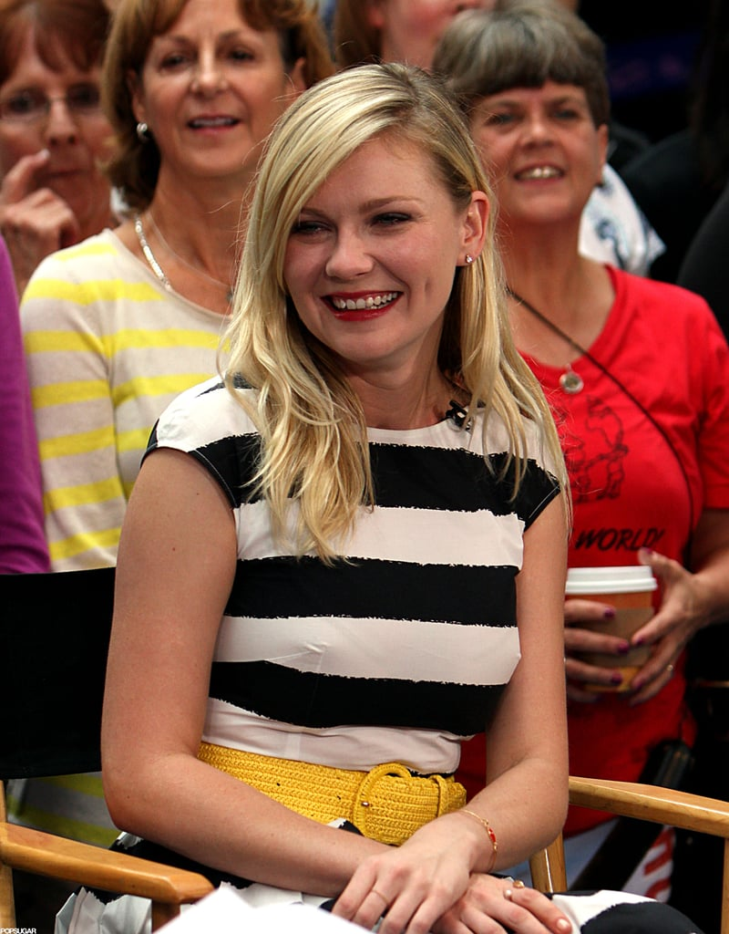Kirsten Dunst had a laugh on Good Morning America to promote Bachelorette in NYC.