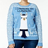 It's Our Time Trendy Plus Size Llama Holiday Sweater ($59)