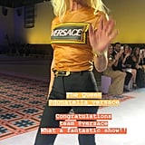 Rosie Huntington-Whiteley Snapped a Cute Photo of Donatella Versace on the Runway