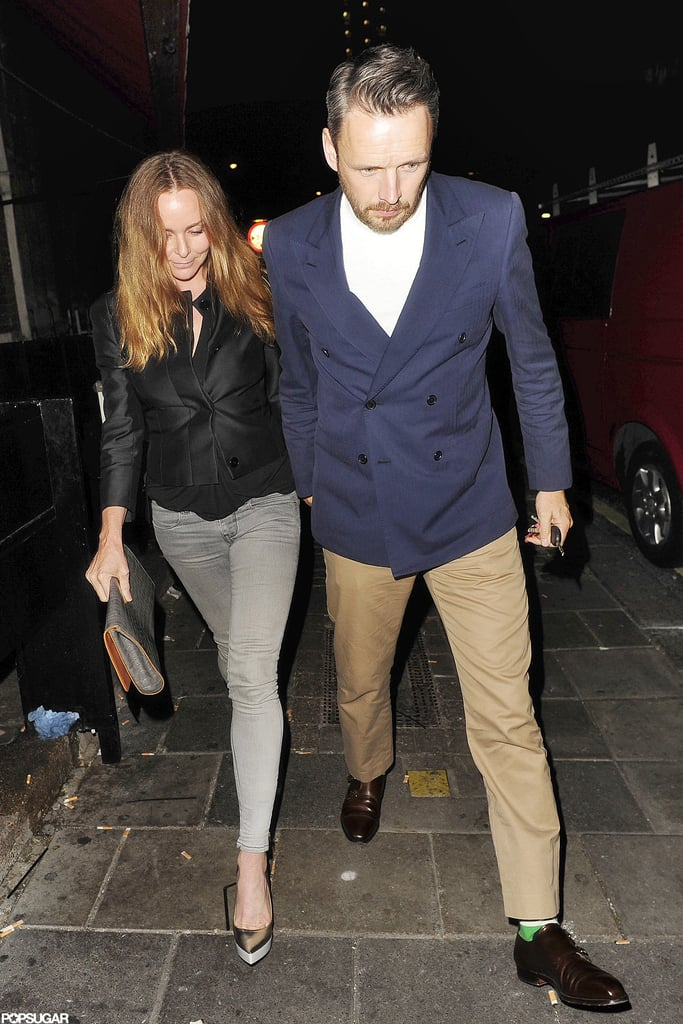 Stella McCartney and her husband dined with David Beckham at a pub in London.