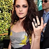 Kristen Stewart rocked some rings at the show.