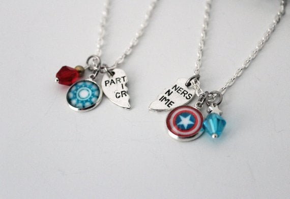 Steve Rogers and Tony Stark BFF Necklaces