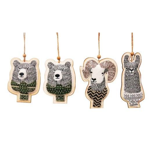 Felt Animal Ornaments