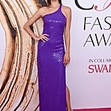 "Alessandra Ambrosio's Purple Gown at the CFDA Awards Screams ""Fashion Royalty"""