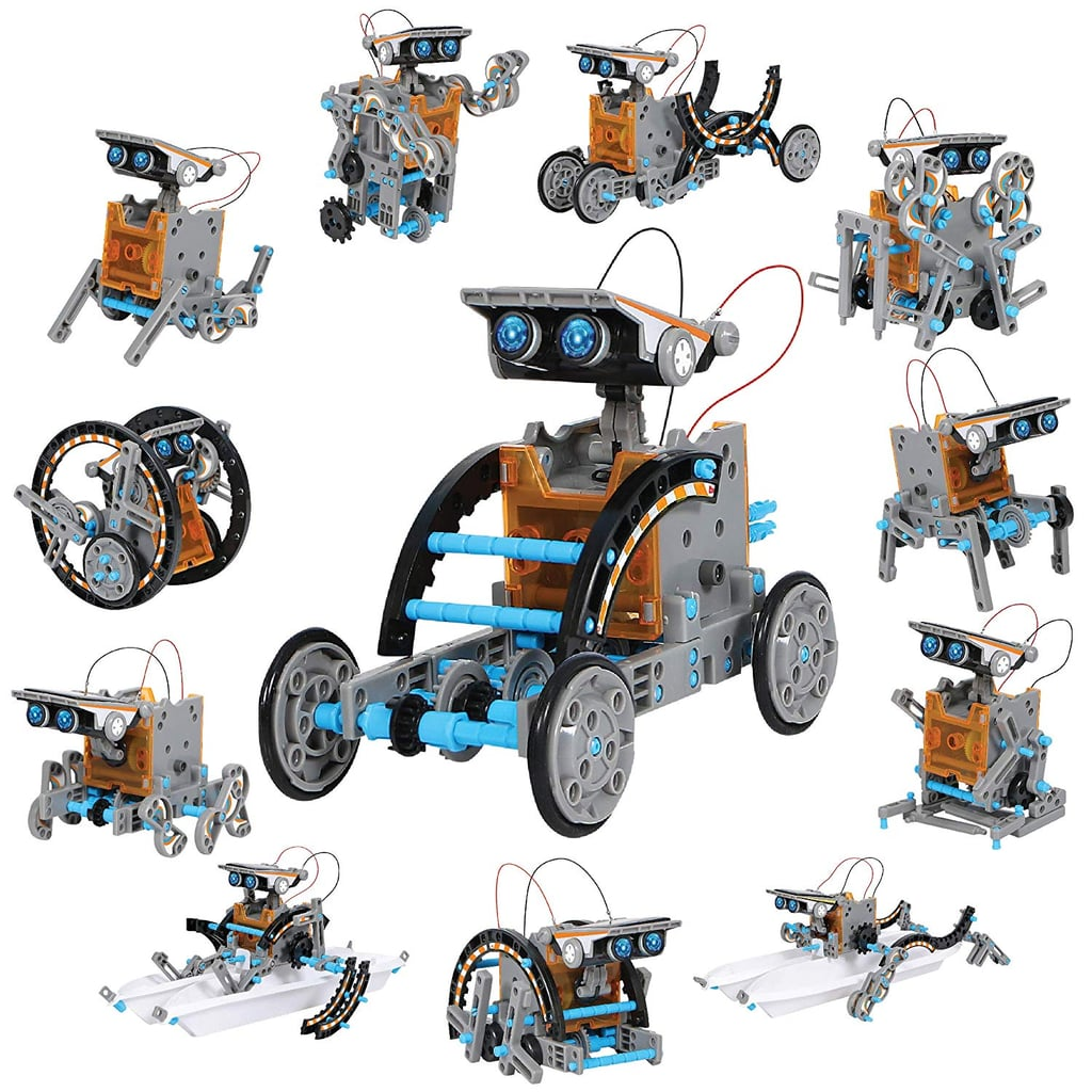 DISCOVERY KIDS Mindblown STEM 12-in-1 Solar Robot Creation 190-Piece Kit