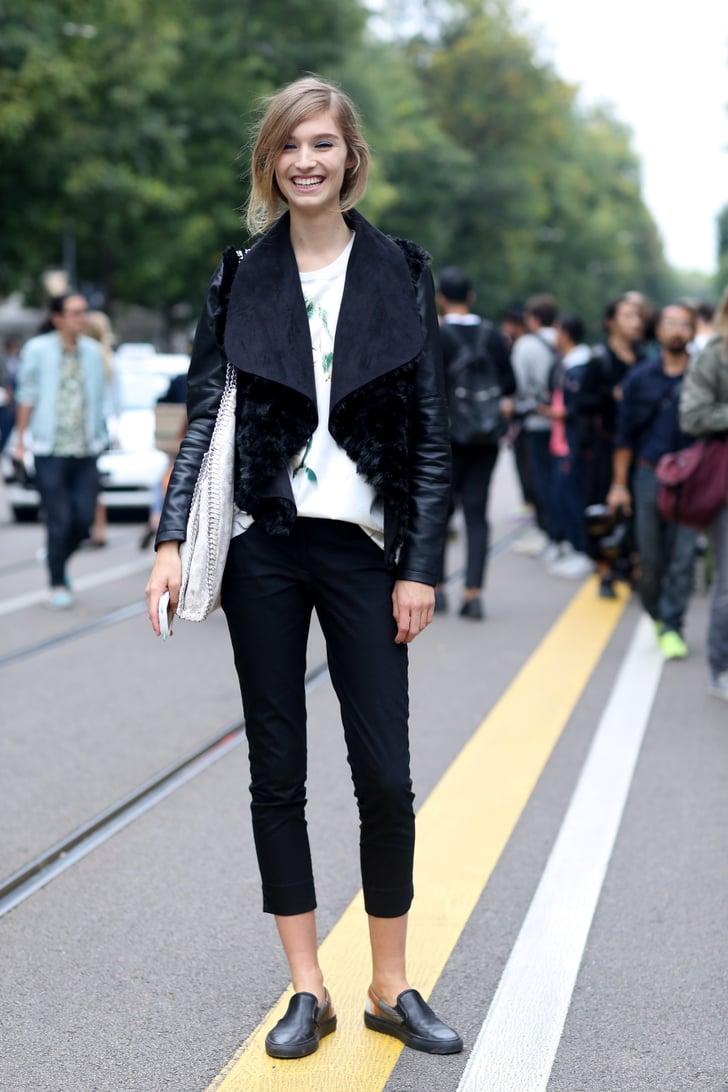 Milan Fashion Week Model Street Style At Fashion Week Spring 2015 Popsugar Fashion Photo 96