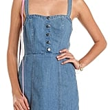 For hanging out at the mall, you'd need a flirty Crisscross Back denim dress ($29). Source: CBS Films