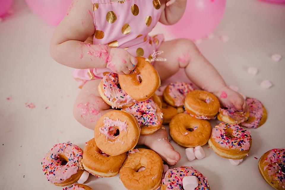 First Birthday Doughnut Smash Photoshoot Popsugar Moms