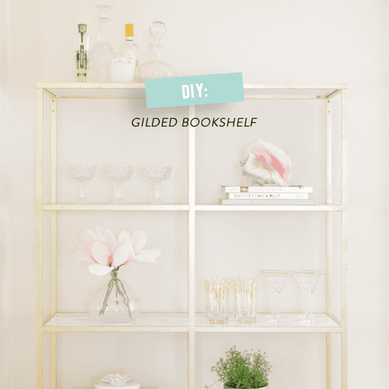Ikea Hack: Gold and Marble Shelves