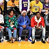 Photos of Kevin Hart With His Family and More Stars at the Christmas Day Game